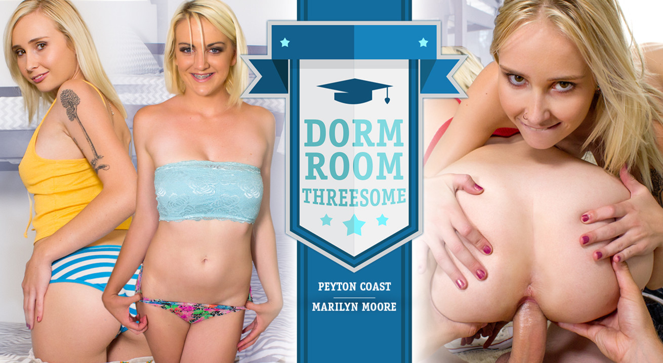 Dorm Room Threesome