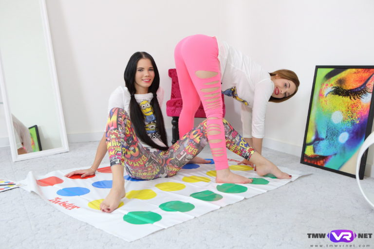 Hotties play strip twister VR Porn
