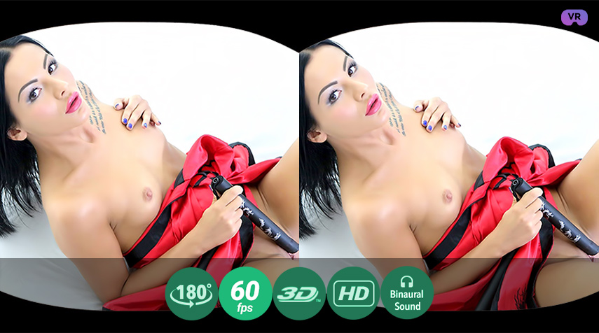 Caressing hot body with nunchucks VR Porn