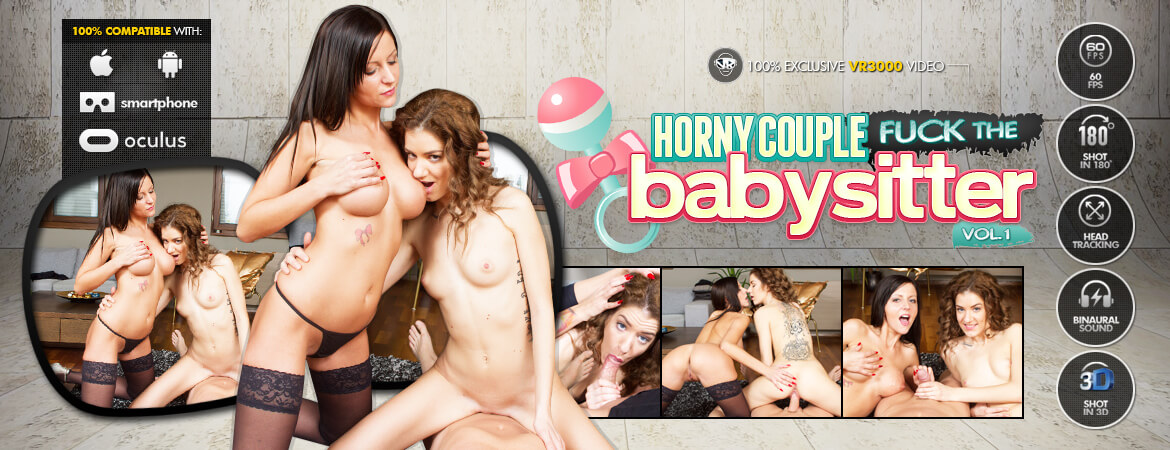 Horny Couple Fuck the Babysitter Vol. 1 VR Porn